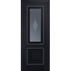 28U Черный матовый стекло кристалл графит, молдинг серебро