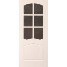 Межкомнатная дверь с ПВХ-пленкой Альфа ПО бел. дуб