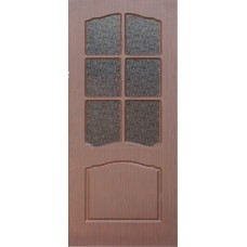 Межкомнатная дверь с ПВХ-пленкой Альфа ПО венге