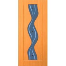 Межкомнатная дверь с ПВХ-пленкой Вираж ПО миланский орех