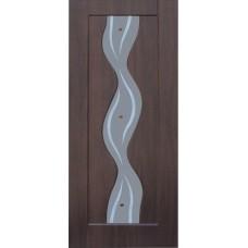 Межкомнатная дверь с ПВХ-пленкой Вираж ПО венге