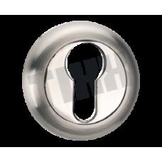 Накладка на цилиндр TIXX ET04 никель матовый/никель блестящий