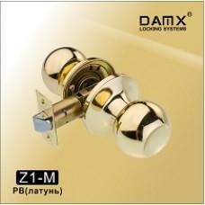 Ручка защелка (шариковая) DAMX   Z1 Полированная латунь (PB)