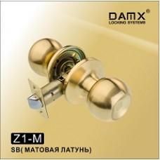 Ручка защелка (шариковая) DAMX   Z1 Матовая латунь (SB)